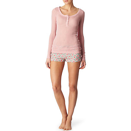 JUICY COUTURE Pointelle Henley sleep set
