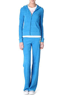 JUICY COUTURE Viva Palm Terry velour tracksuit