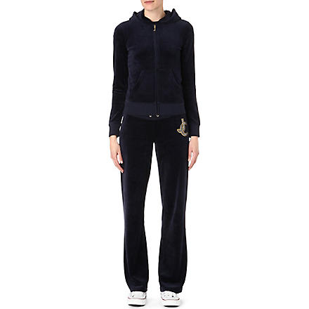 JUICY COUTURE Chain logo velour tracksuit