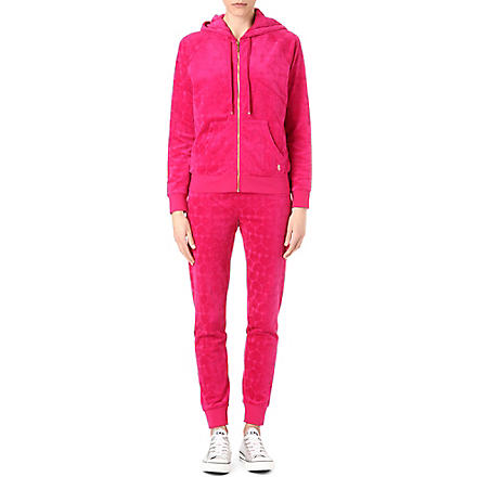 JUICY COUTURE Heart velour tracksuit