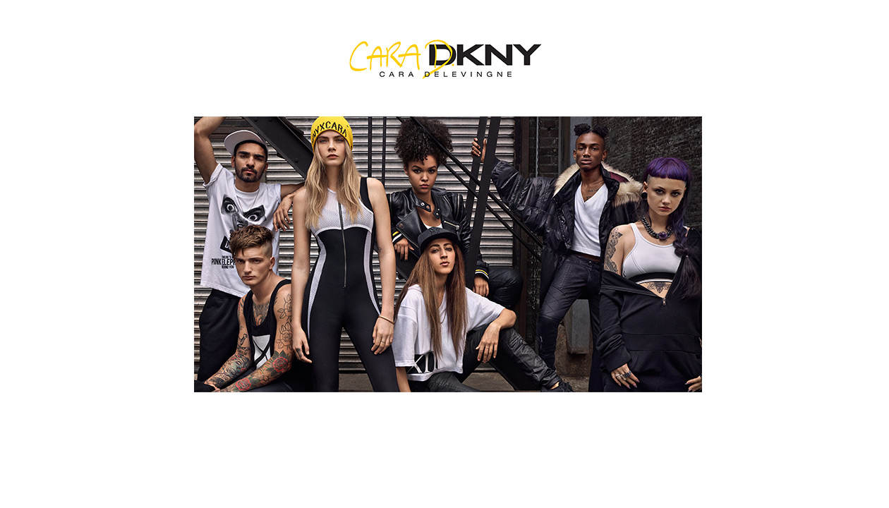 Cara Delevigne designs for DKNY