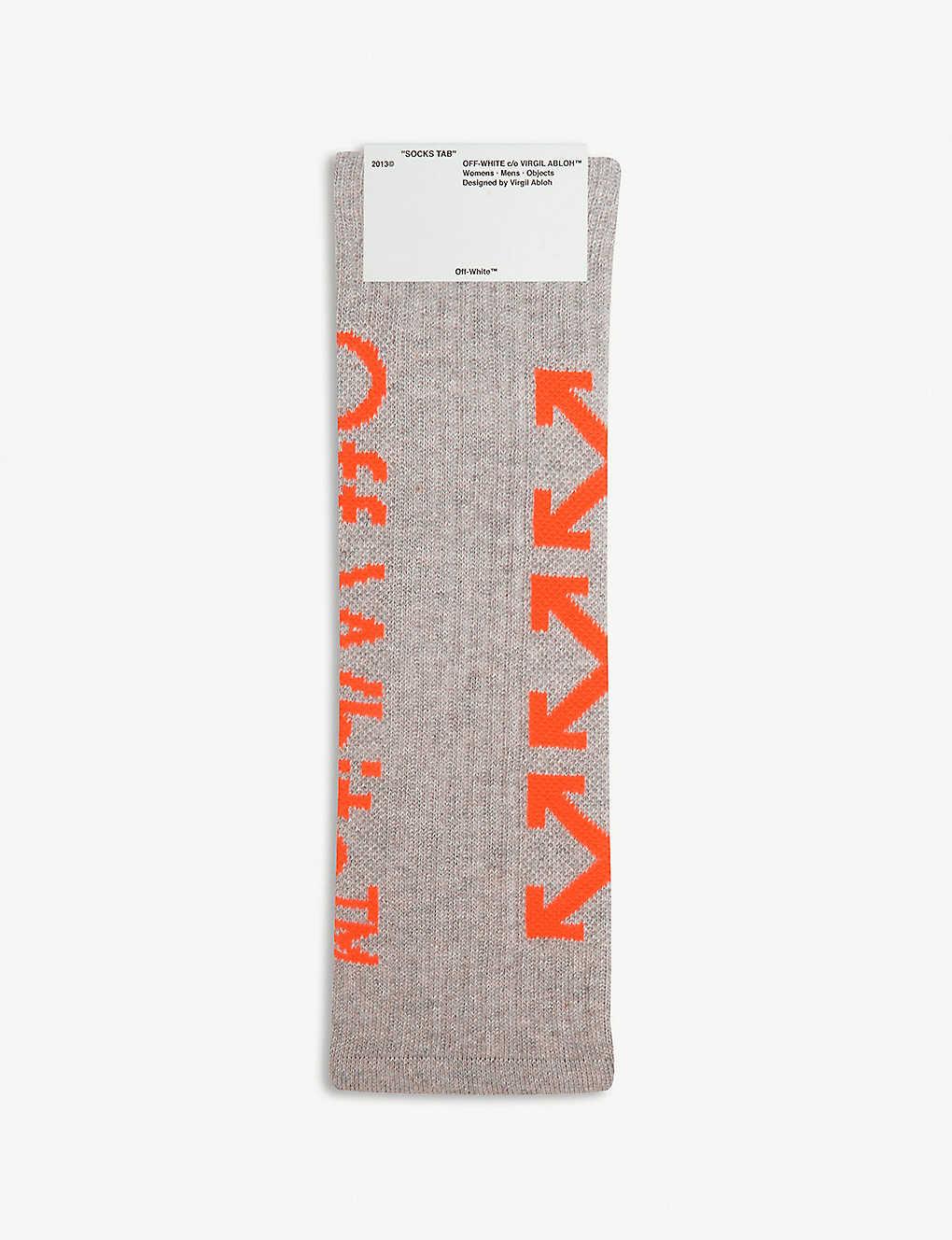 1f1804117b40 OFF-WHITE C O VIRGIL ABLOH - Arrow print cotton-blend socks ...