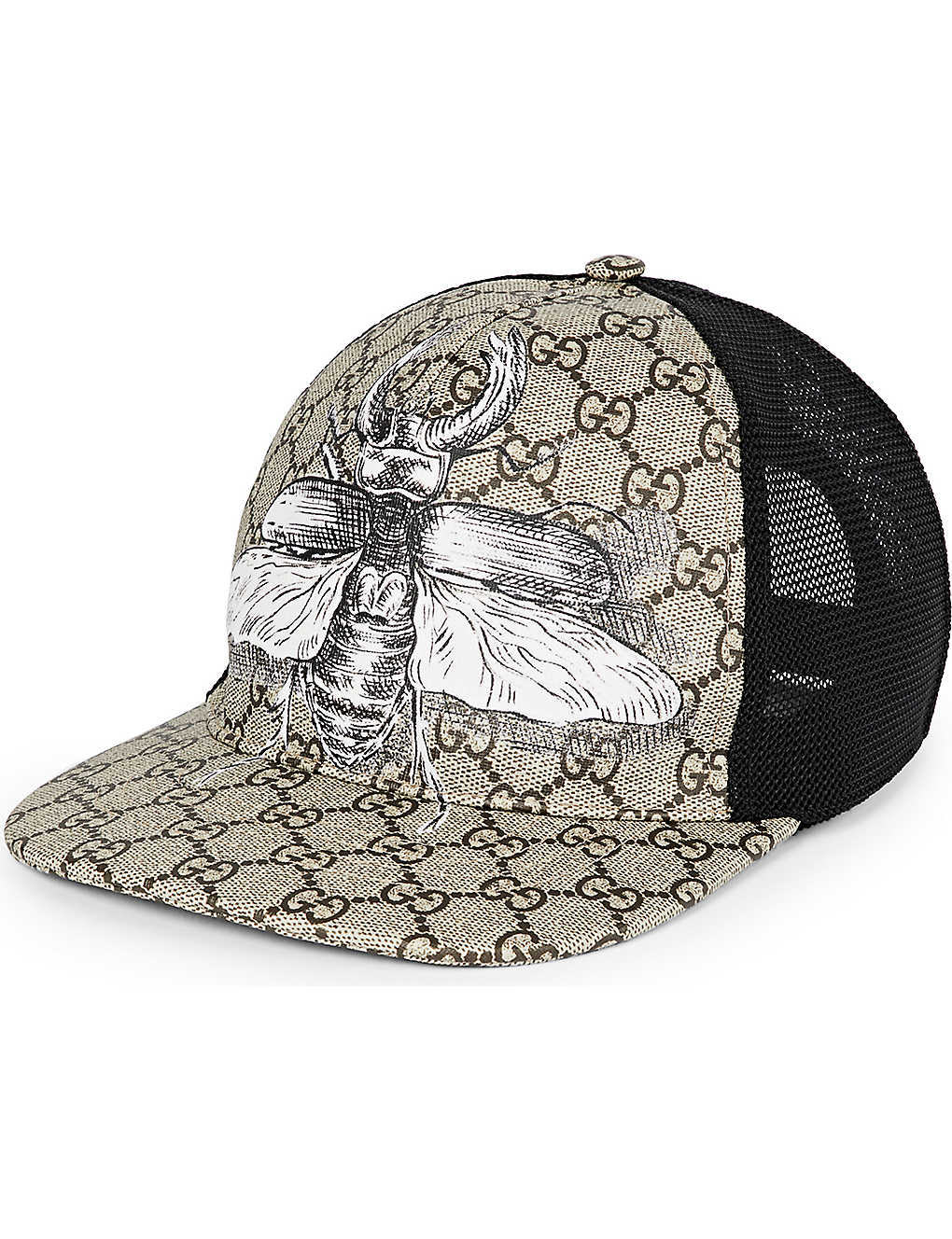 2fee1faaaa4 GUCCI - Insect canvas baseball cap