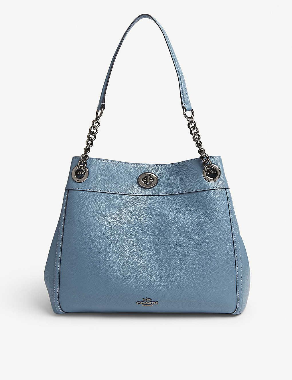 COACH - Edie leather shoulder bag  f094ee1f8cf8e