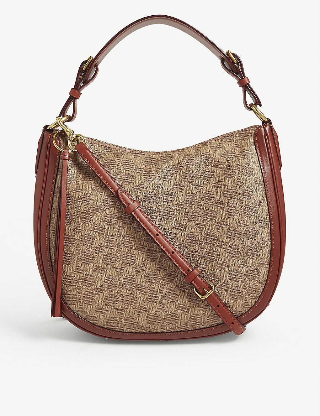 e0b5a32111bd COACH - Sutton coated canvas hobo bag