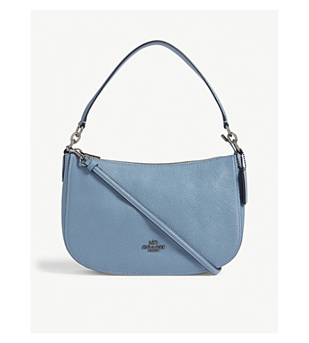 51b9aaf65e ... discount coach chelsea leather cross body bag dk chambray. previousnext  f230e 6c9ae
