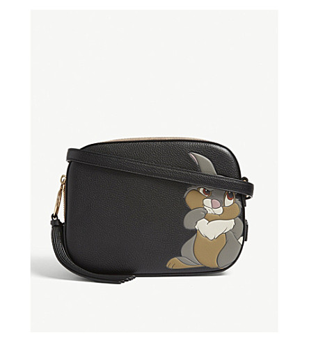 899952b9cd2f COACH - Disney Thumper logo leather cross-body bag