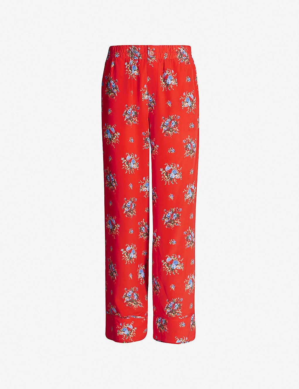63d90a90726 GANNI - Kochhar printed wide-leg silk trousers
