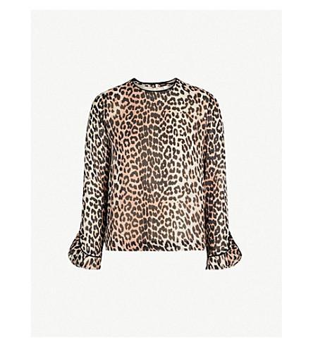 1ac898f3 ... GANNI Mullin leopard-print georgette top (Leopard. PreviousNext