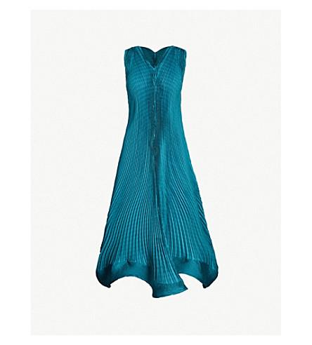 Scalloped Hem Pleated Dress by Issey Miyake