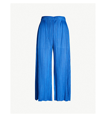 Month Wide Leg Pleated Trousers by Pleats Please Issey Miyake