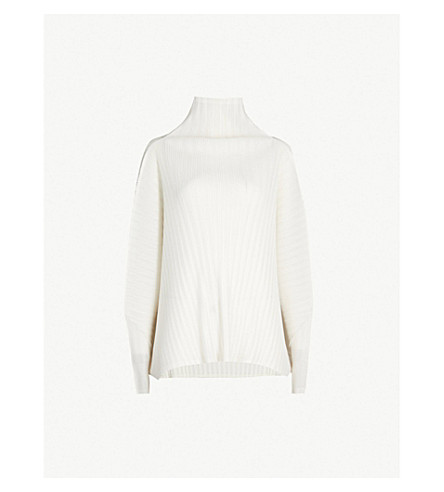 Pleated Turtleneck Top by Pleats Please Issey Miyake