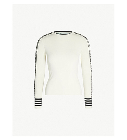 499fd3fc5041 OFF-WHITE C O VIRGIL ABLOH - Tennis two-tone knitted top ...