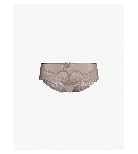 a6f5fa2c554 CHANTELLE - Orangerie mesh and lace hipster briefs