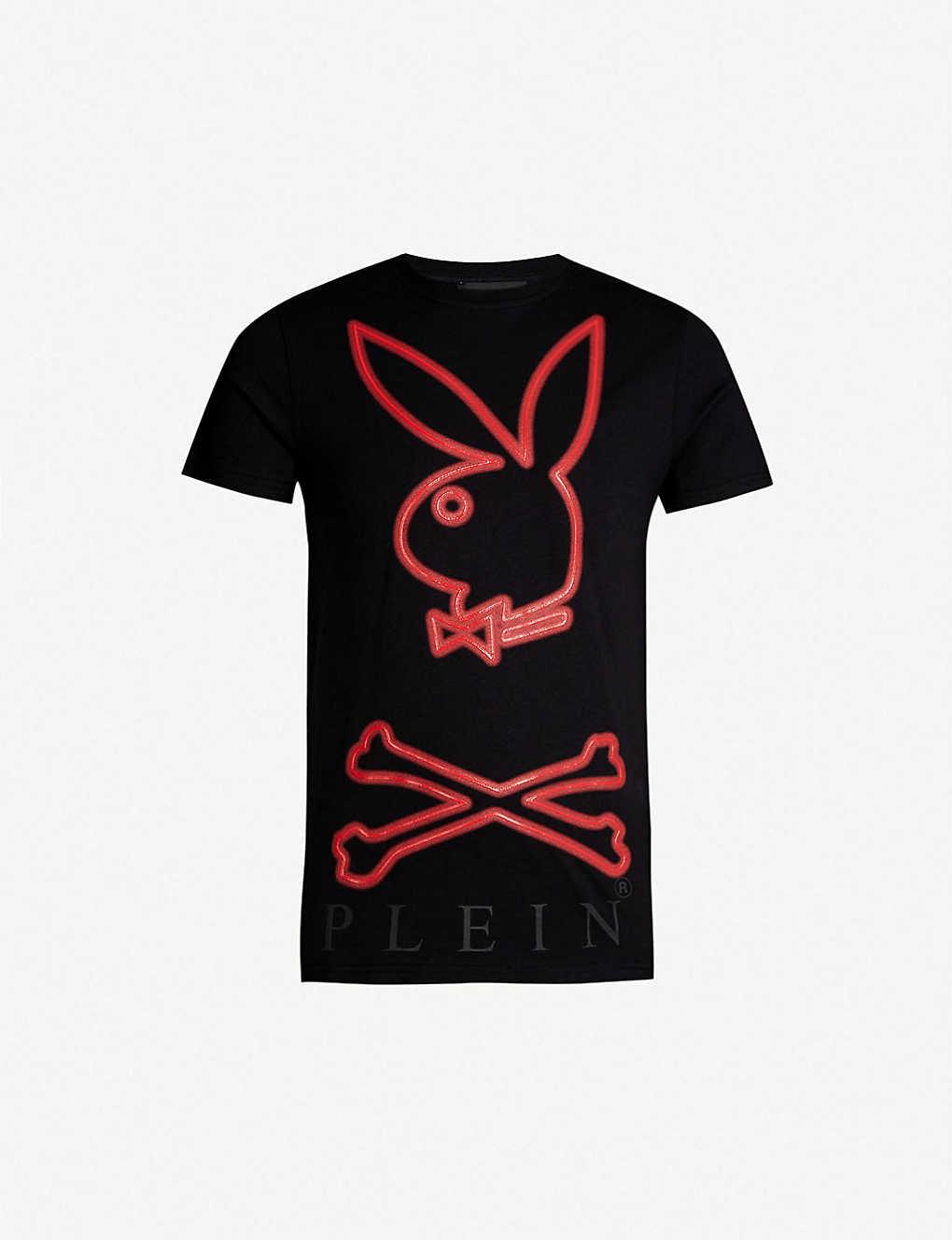 PHILIPP PLEIN - Playboy logo-print cotton-jersey T-shirt ... 072e49e22