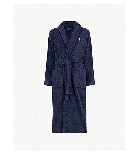 27a124f81a ... POLO RALPH LAUREN Terry towelling dressing gown (Navy. PreviousNext