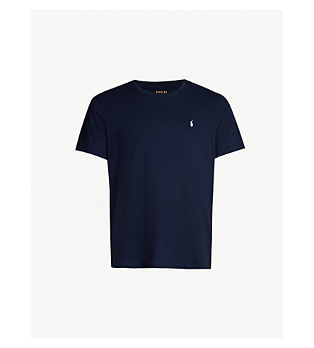 de4310340ddc ... POLO RALPH LAUREN Crewneck cotton-jersey T-shirt (Cruise+navy.  PreviousNext