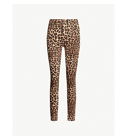 Good Waist Leopard Print High Rise Skinny Jeans by Good American