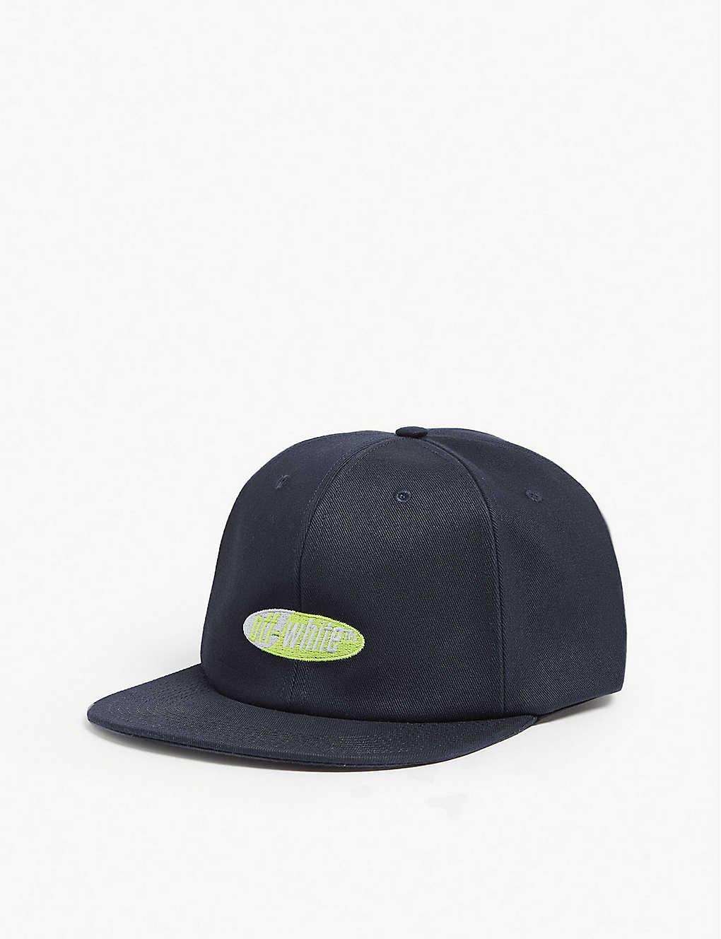 OFF-WHITE C O VIRGIL ABLOH - Split logo cotton snapback cap ... af68a14941c