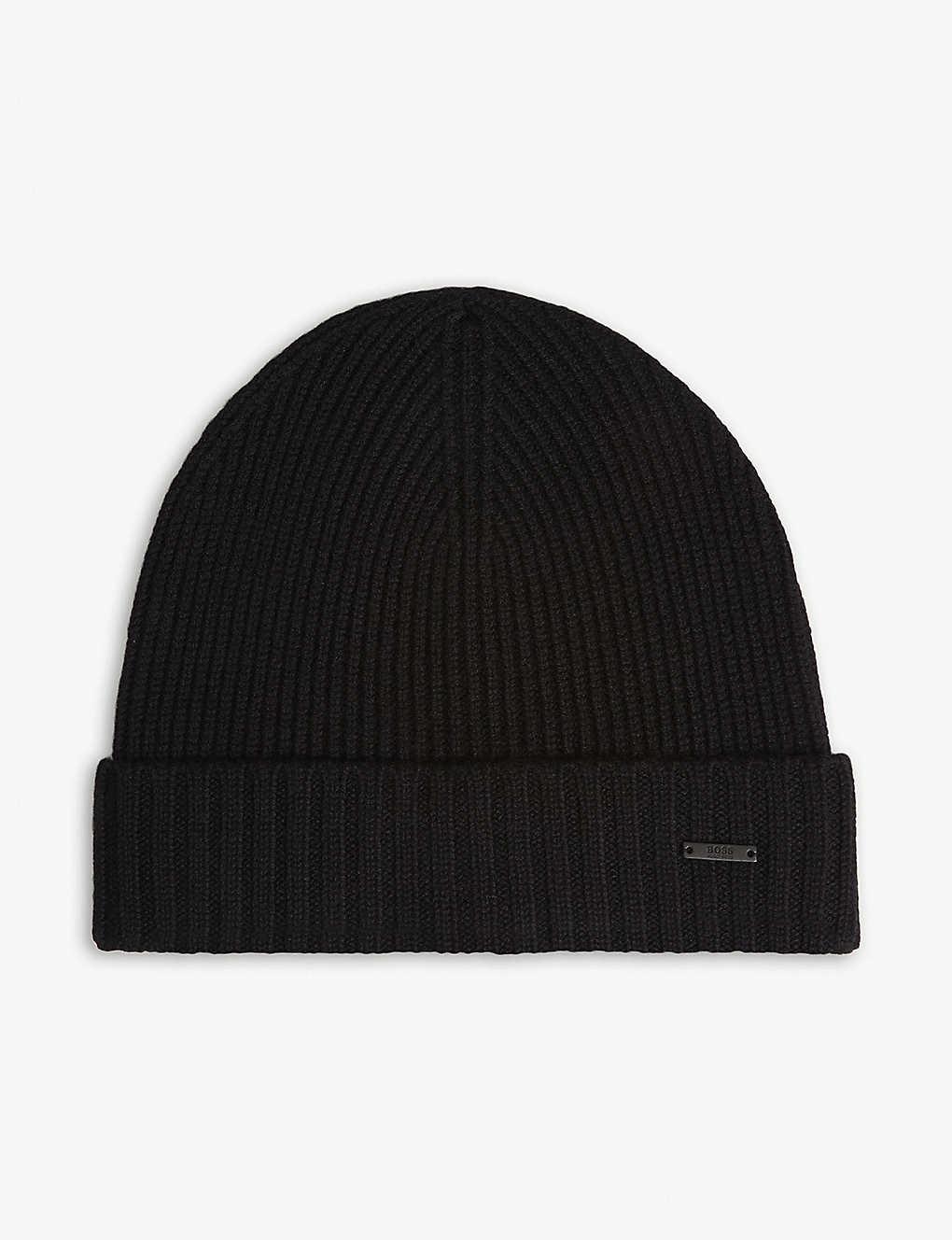 BOSS - Fati knitted wool beanie  d5075594fa7