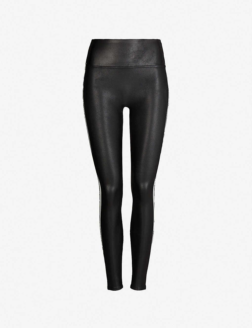 67f8dd3df4 SPANX - Side-stripe faux-leather leggings