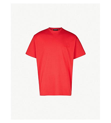 812191766 BALENCIAGA - Sinners cotton-jersey T-shirt | Selfridges.com