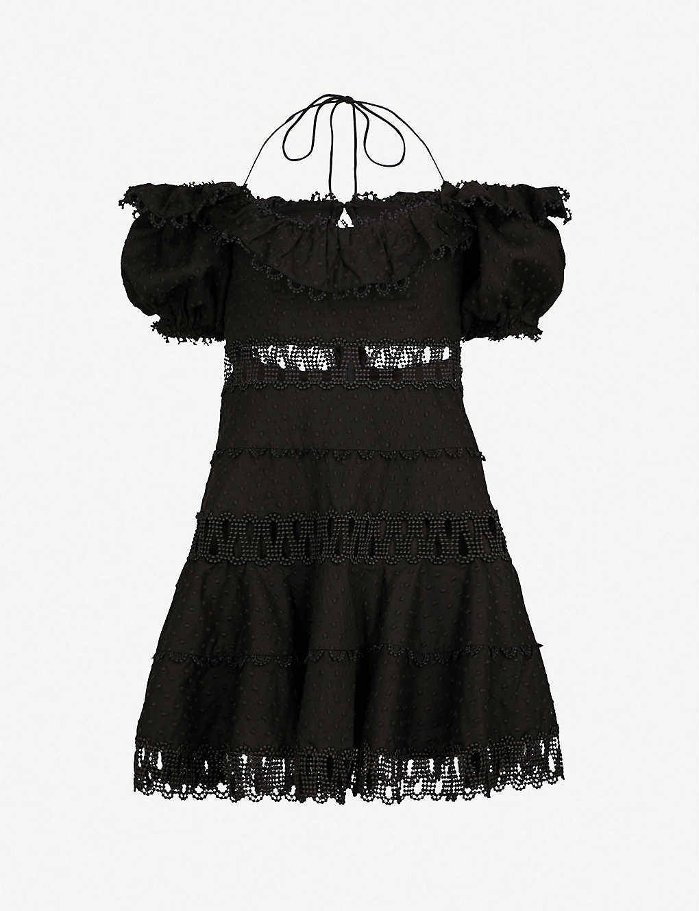 ZIMMERMANN - Melody off-the-shoulder linen and cotton-blend dress ... 4046499dd
