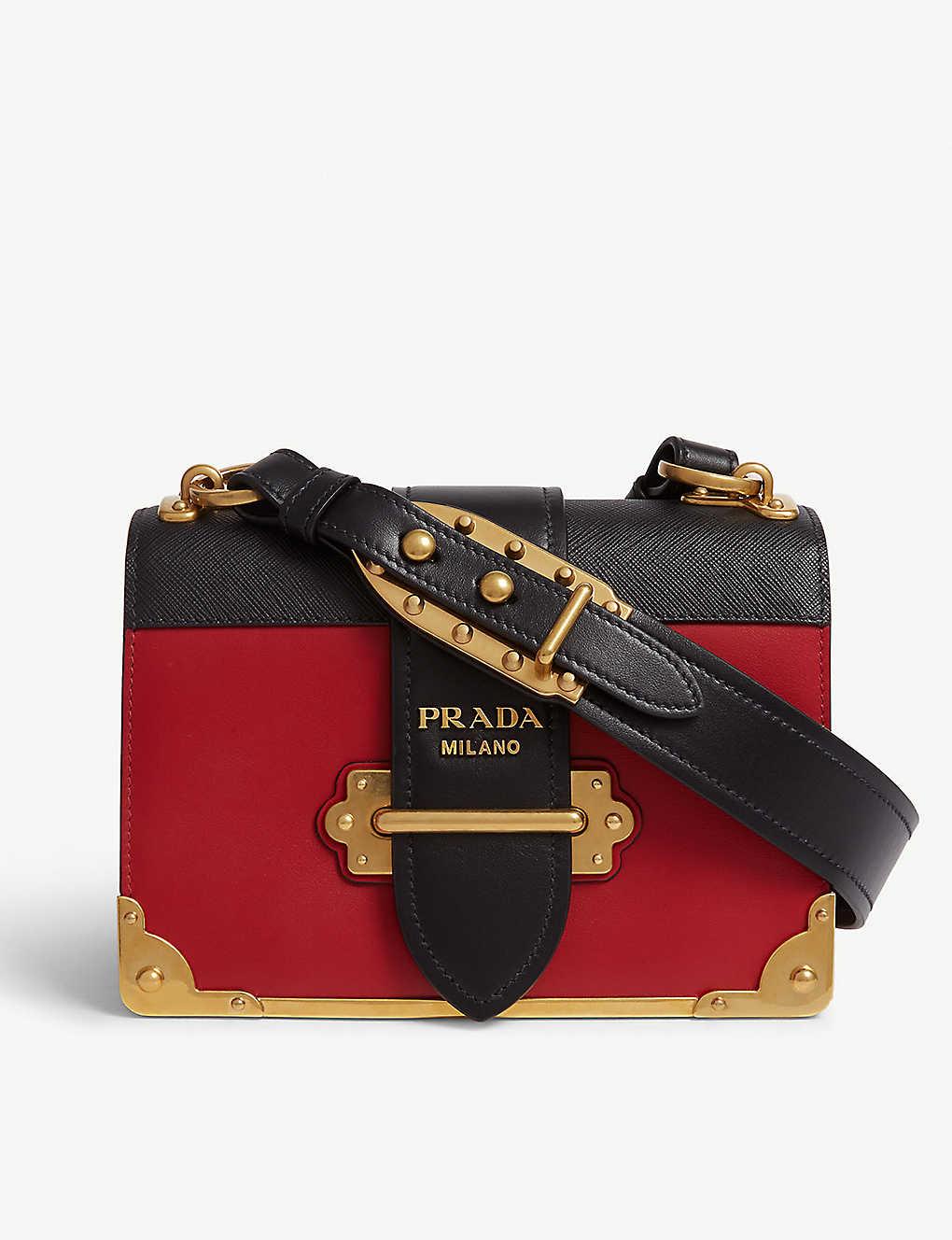 94431293e102 PRADA - Cahier leather shoulder bag