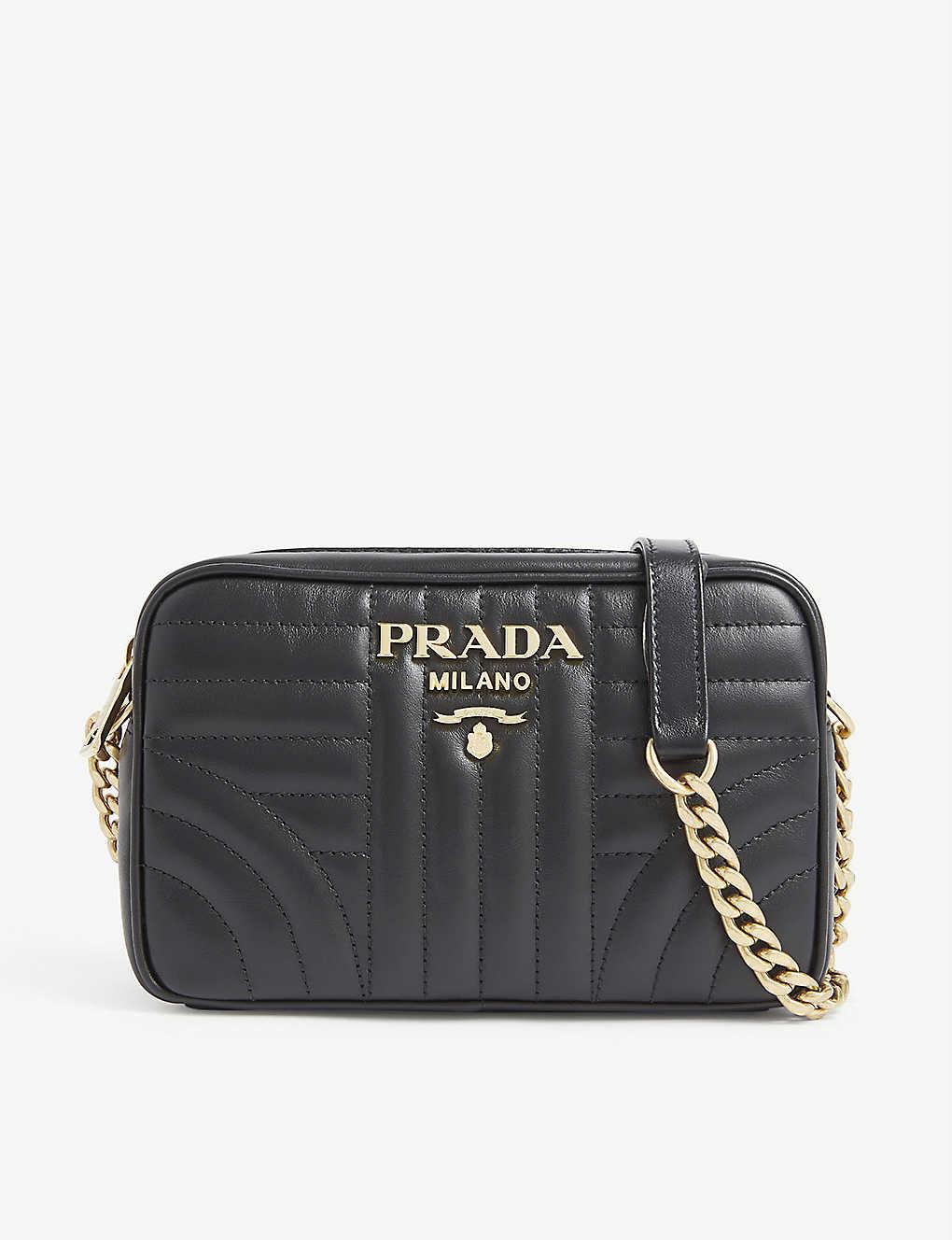 b5cbf6a8cbd2 PRADA - Leather diagramme camera bag