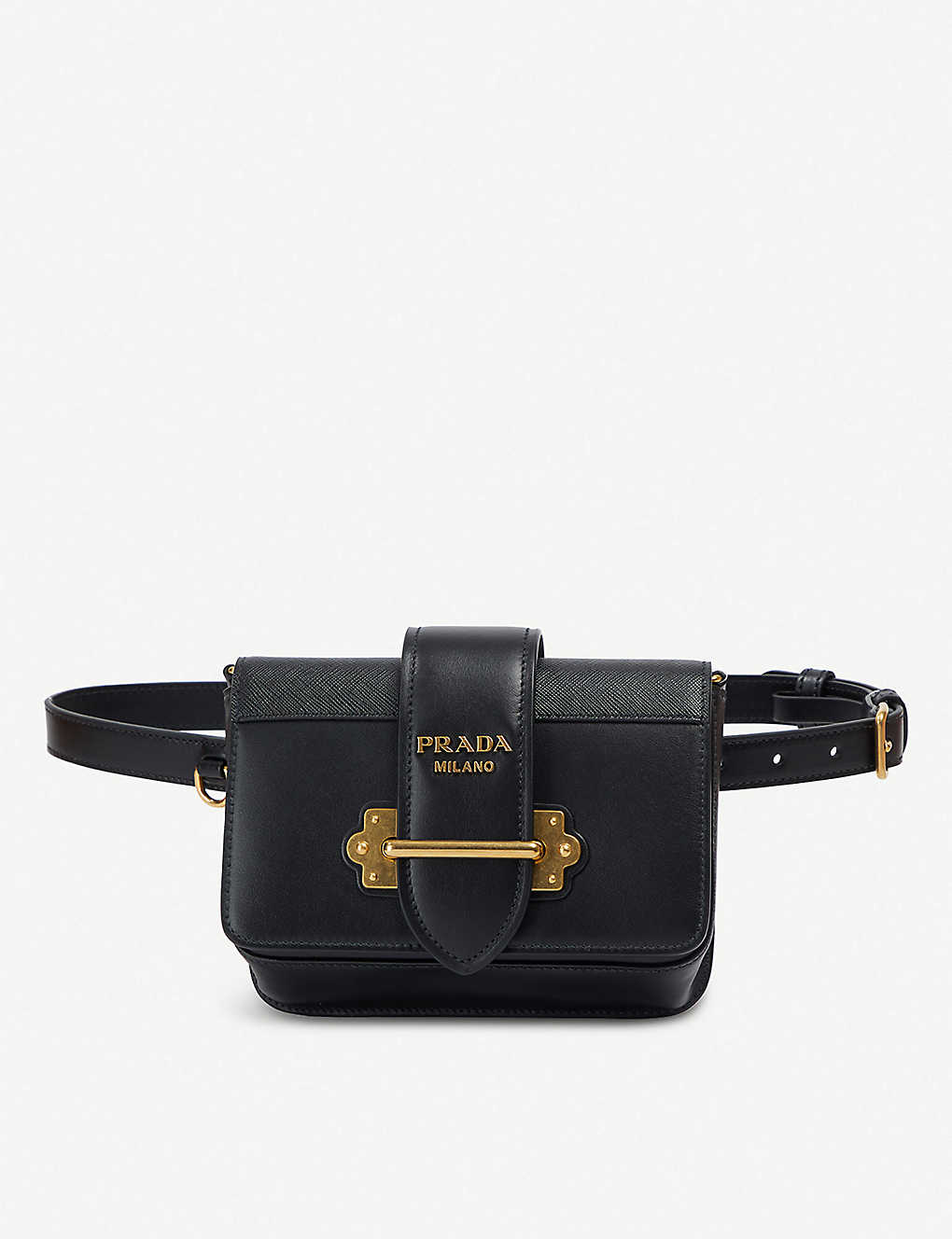 37d7a8aabcdac PRADA - Cahier logo-plaque leather belt bag