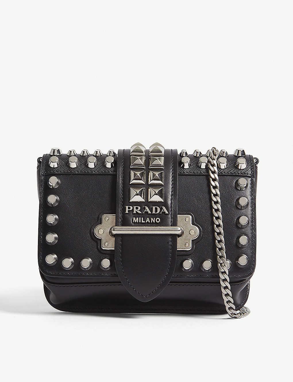 PRADA - Cahier leather belt bag  90575fe8ce525