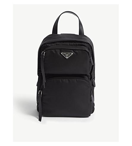 ad55dffd4a55 ... PRADA One-shoulder nylon backpack (Black. PreviousNext