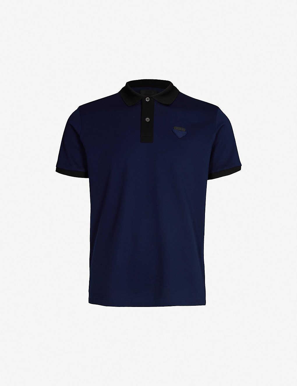 c5c1163ebc696b PRADA - Logo-appliqué cotton-piqué polo shirt   Selfridges.com