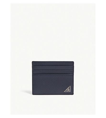 d52d340cd930 ... PRADA Saffiano leather card holder (Baltic+blue. PreviousNext