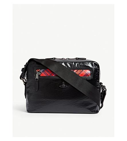 ab1d66de51 ... VIVIENNE WESTWOOD Wimbledon leather messenger bag (Black. PreviousNext