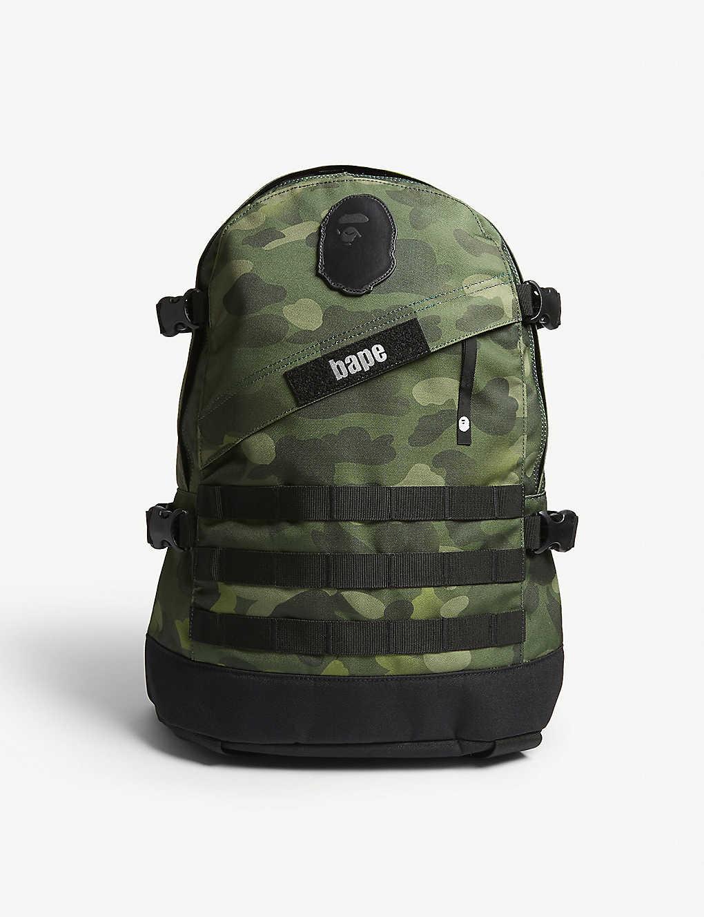A BATHING APE - Graduation camouflage canvas backpack  b2d266dbd88d3