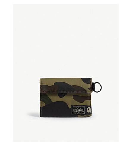 4dac3ced271 ... A BATHING APE Porter 1st Camo nylon wallet (Green+camo. PreviousNext