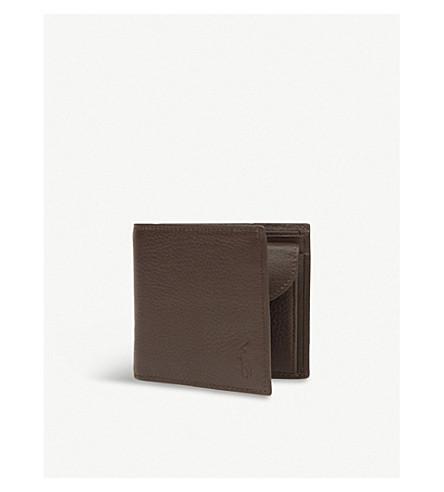 ... POLO RALPH LAUREN Pebbled leather wallet (Brown. PreviousNext e9952bd73252