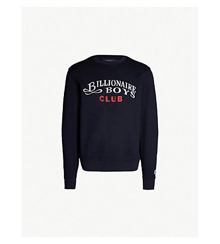 03875e1a84c4 ... BILLIONAIRE BOYS CLUB Logo-embroidered cotton-jersey sweatshirt (Navy.  PreviousNext
