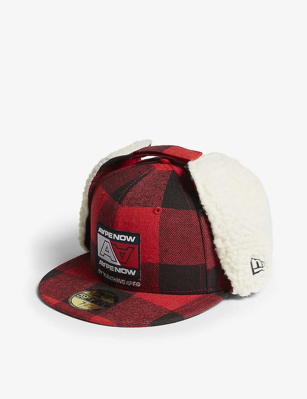 AAPE - Flannel 59fifty cotton baseball cap  d1e9ae12ce0
