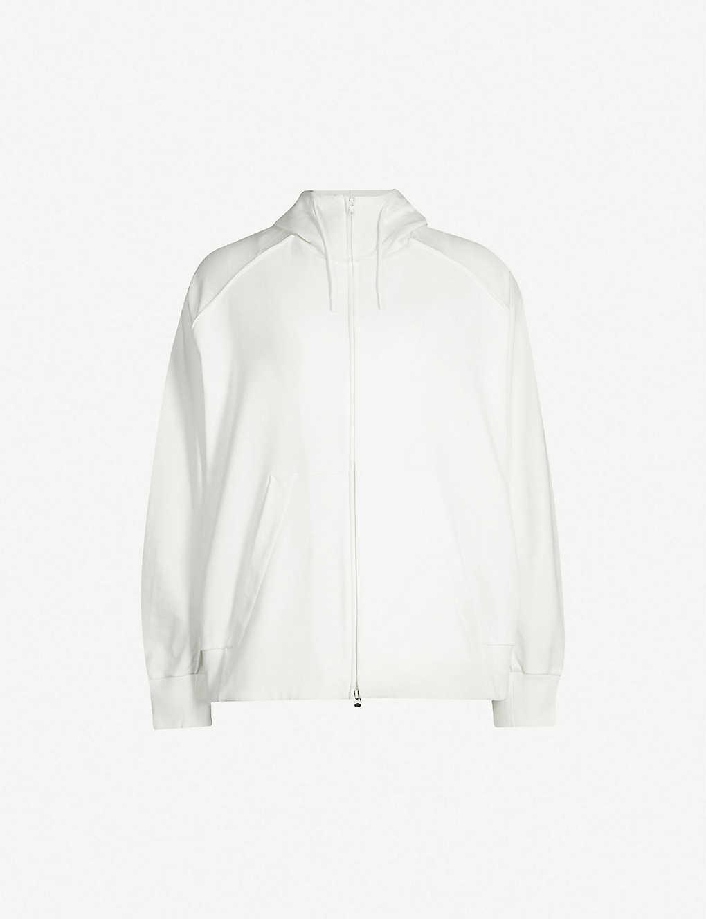 5c8a82e2191da Y3 - Signature-print cotton-jersey hoody