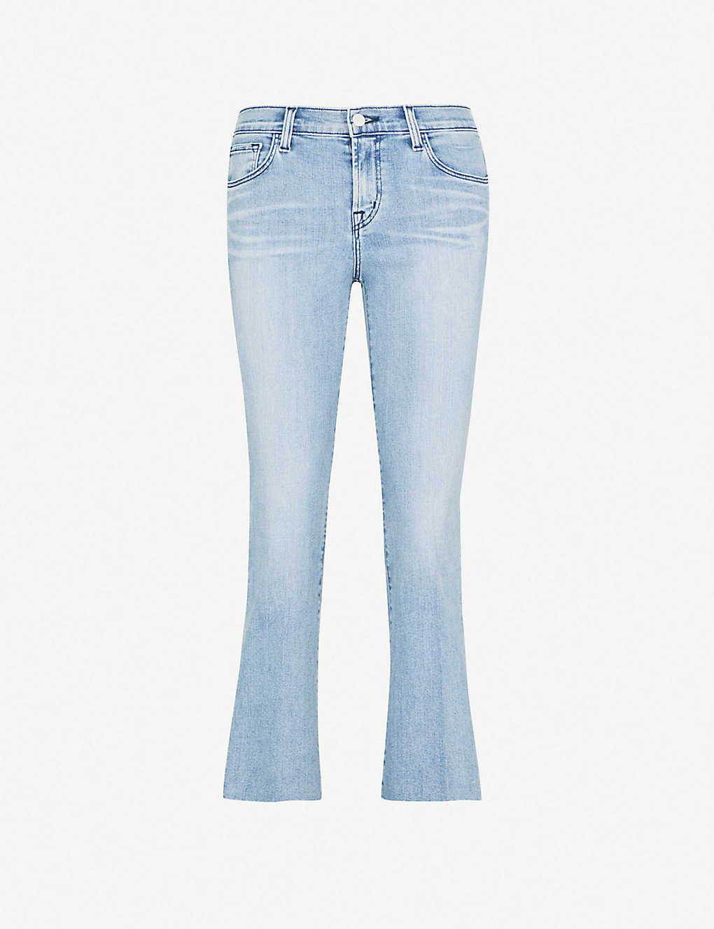 04cd1125f8639 J BRAND - Selena mid-rise cropped boot-cut jeans