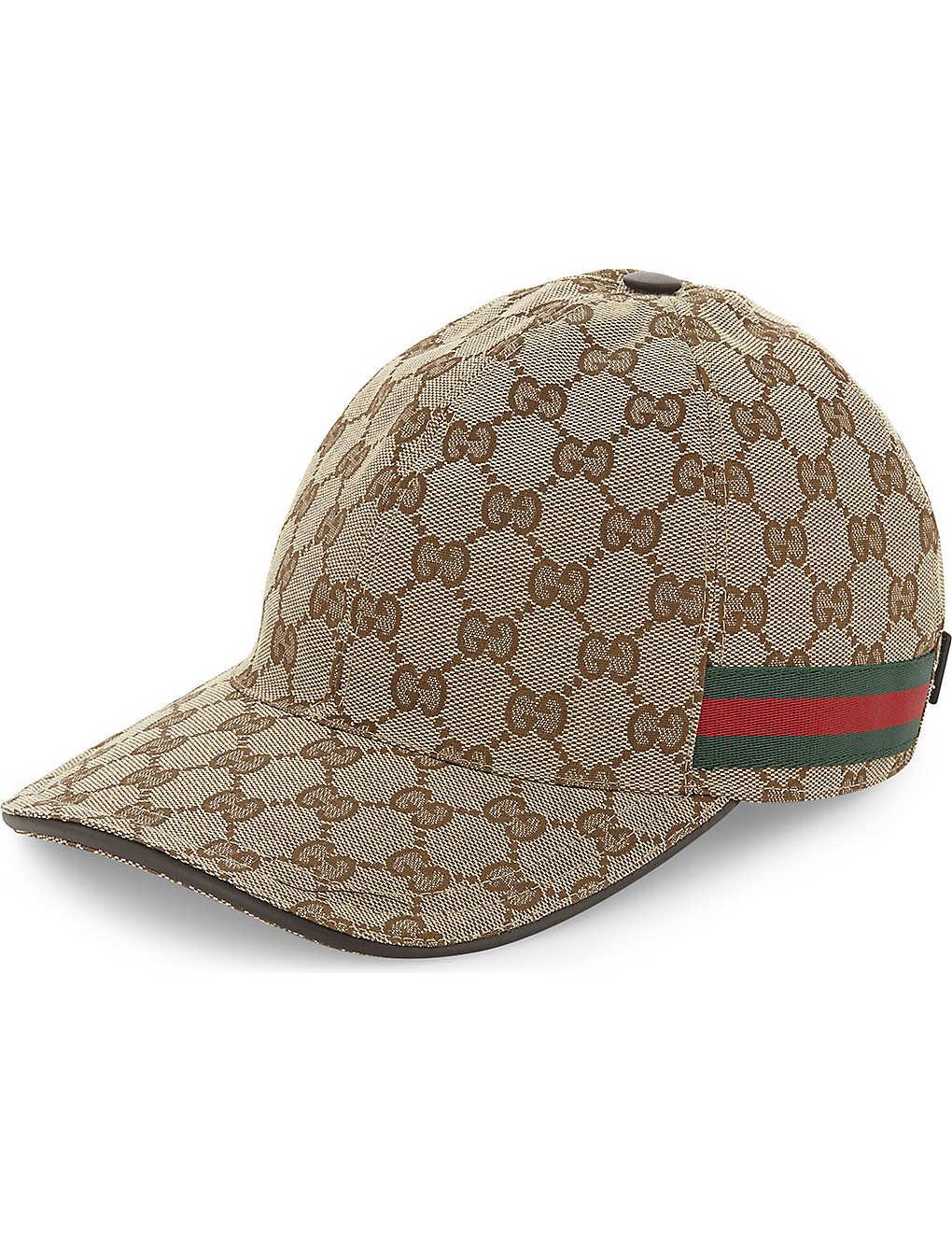 06873edcd67 GUCCI - GG Web stripe baseball cap