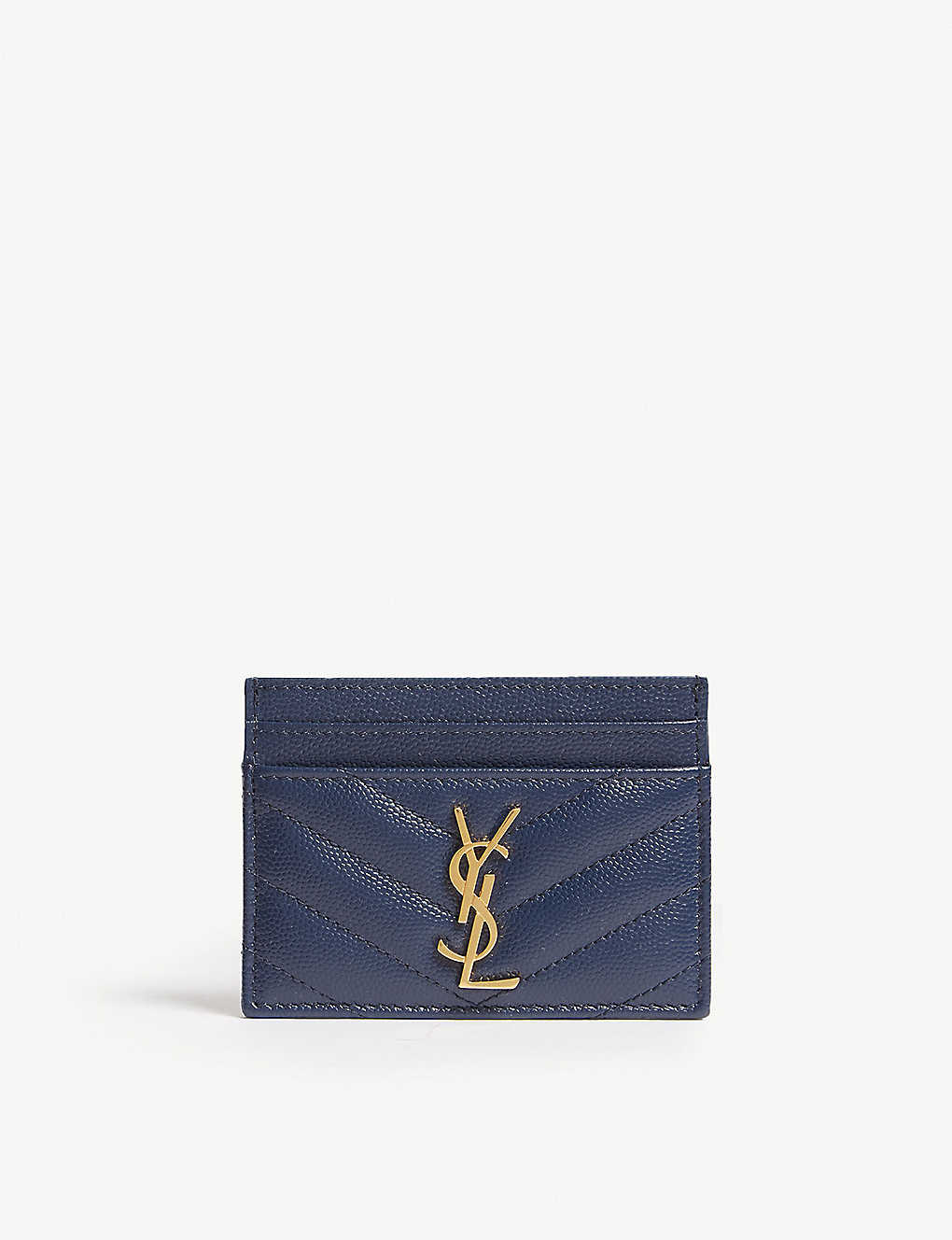588f6ce8b39f SAINT LAURENT - Monogram quilted card holder