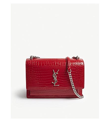 582a8d0099 ... SAINT LAURENT Sunset medium leather shoulder bag (Red. PreviousNext