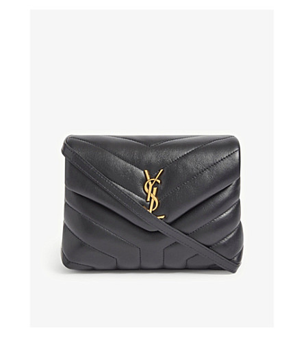 14df4e7be0a0 ... SAINT LAURENT Monogram Loulou quilted leather cross-body bag  (Black gold. PreviousNext