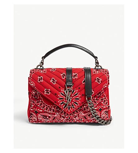 e45e3d2b67fbd SAINT LAURENT - Bandana college small cross-body bag