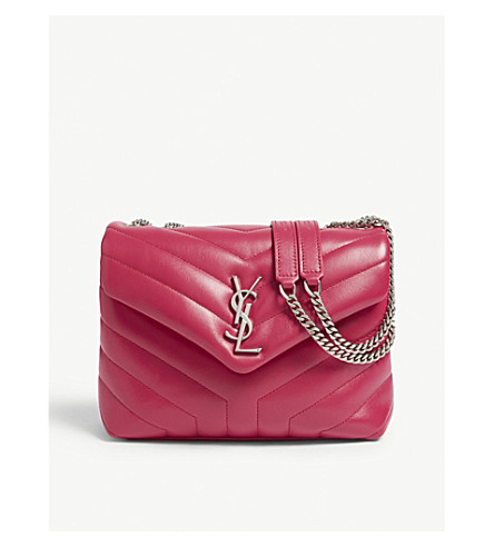 c6ab40b5f39c ... SAINT LAURENT Monogram Loulou quilted leather cross-body bag  (Rose+fresia. PreviousNext