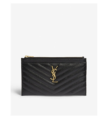 6f5397b1f1db ... SAINT LAURENT Monogram quilted leather pouch (Black. PreviousNext