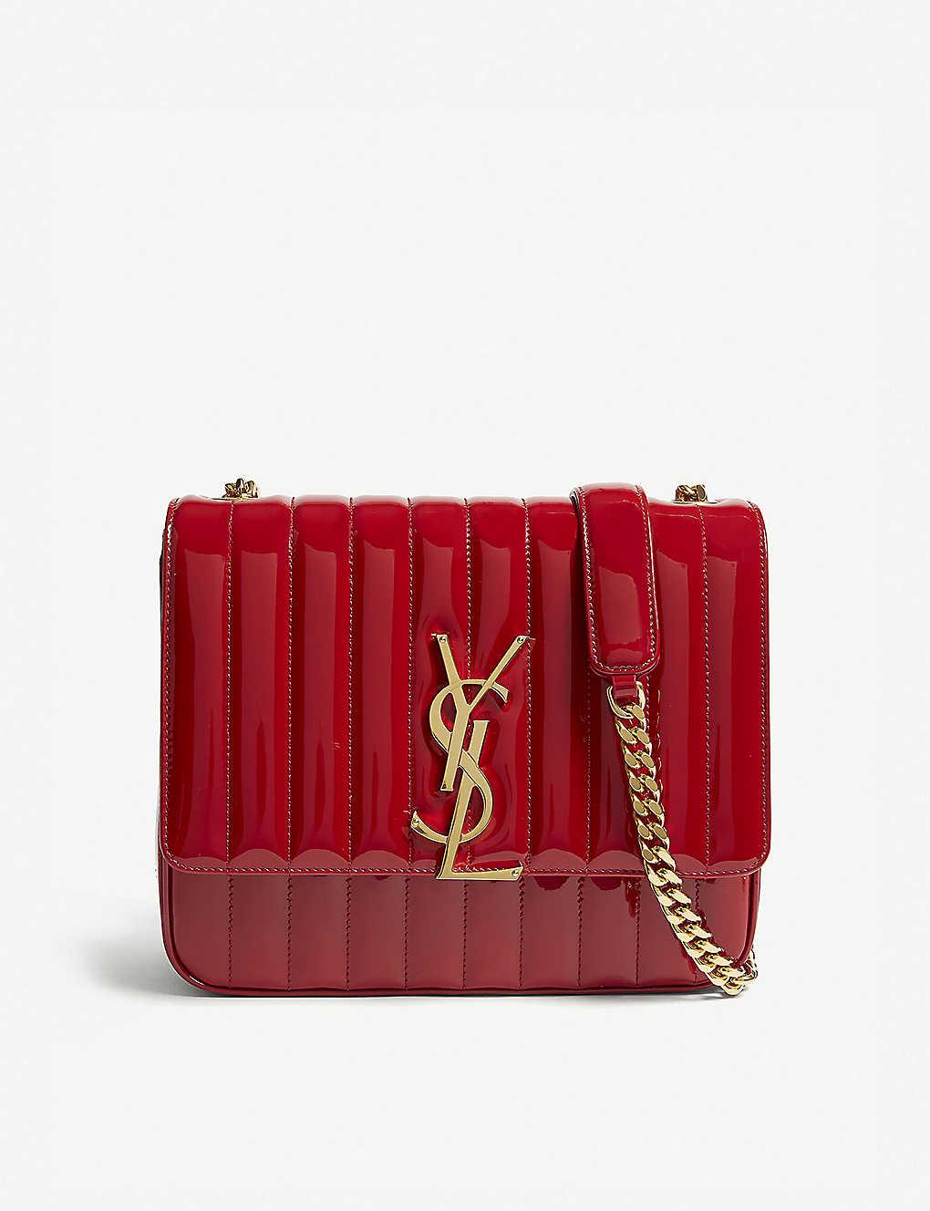 SAINT LAURENT - Vicky large patent leather shoulder bag  c10962c682af3